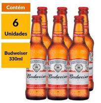 Cerveja Budweiser 330ml Long Neck - Pacote Com 6 -