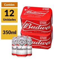 Cerveja Budweiser 350ml caixa (12 Unidades) -