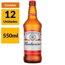 Cerveja Budweiser 550ml  Caixa (12 Unidades) -