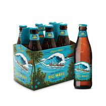 Cerveja Kona Big Wave Golden Ale Long Neck 355ml Caixa  (6 unidades)