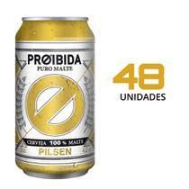 Cerveja Pilsen Proibida Puro Malte 350ml - 48 Latas -