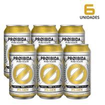 Cerveja Pilsen Proibida Puro Malte 350ml - 6 Latas -
