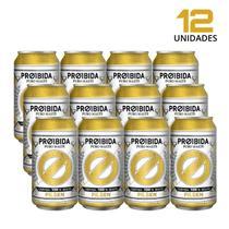 Cerveja Pilsen Proibida PURO MALTE 350ml - Pack com 12 Latas -