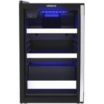 Cervejeira Venax Blue Light 100 Litros Porta Invertida Preto Fosco 110V 19919 -