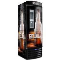 Cervejeira Vertical Metalfrio Porta Glass Viewer 387 Litros Adesivada VN44FL 220V -