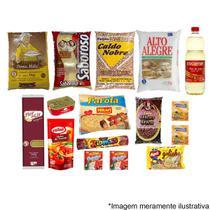 Cesta Básica Completa Alimentos Essenciais - 16 itens - Doações - Diversas
