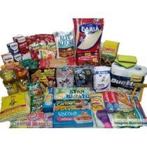 Cesta Básica Completa Alimentos Essenciais - 16 itens - Doações - Reforçada - Diversas