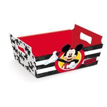 Cesta Caixote Organizadora Papel Mickey Disney Festa 1 unidade - Cromus