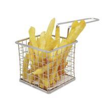 Cesta com Alça para Servir Batata Frita e Petiscos Fackelmann em Aço Inox -