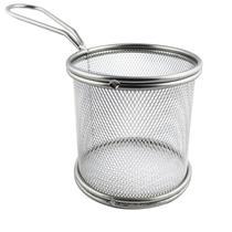Cesta De Inox Redonda P Servir Porções Batata Frita Frango - Ke Home