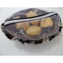 Cesta para Pão de Bambu com Detalhes em Tecido - Café - Recanto da costura