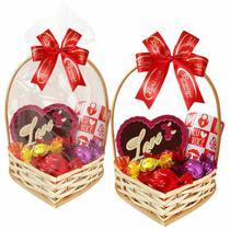 Cesta Romântica com Chocolates e Caneca Borússia Chocolates -