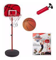 Cesta Tabela de Basquete Kit Completo Ajustavel 202 Cm Dm toys -