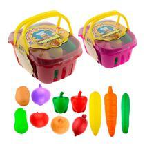 Cestas De Frutas E Legumes Brinquedos Infantil - Braskit -