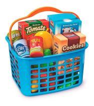 Cestinha de Alimentos  Infantil De Brinquedo Super Feirinha 13 Pcs Usual Brinquedos -