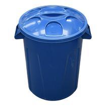 Cesto balde plástico 60 litros com tampa cores - Marfimetal Web
