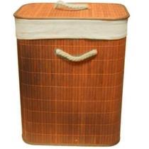 Cesto de bambu com tampa claro - Mimo Style -