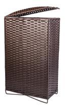 Cesto de Roupa de Ferro e Fibra Sintética 50 Litros 21x40x67 - Artesanato Com Fibra