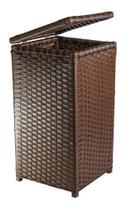 Cesto de Roupa Fibra Sintética Tipo Vime Junco 45 Litros 30x30x60 - Artesanato Com Fibra