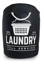 Cesto de roupa laundry preto dobravel 15 l - Secalux
