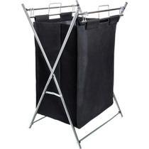 Cesto de roupa suja dobrável Aço cromado 12 kg MOR com alça -