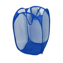 Cesto De Roupa Suja Grande Nylon Organizador Brinquedos Azul - Clink