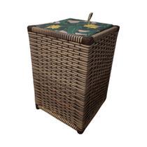 cesto de roupas organizar objetos peça artesanal maravilhoso - Cissane