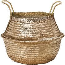 Cesto dourado em seagrass - Mart