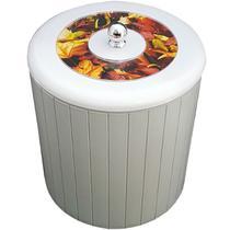 Cesto Lixo 5L Banheiro Tampa Decorativa Lixeira Higiênica Branca - Zanline