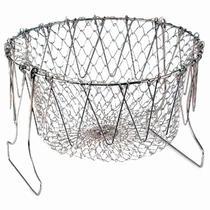 Cesto Multiuso Chef Basket Fritura Cozimento Fritadeira Escorredor para Alimentos - Thata Esportes