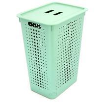 Cesto Organizador 47 Litros Para Roupas Em Plástico Verde -