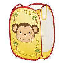 Cesto Organizador De Brinquedos Roupas Sapatos Carrinhos - Amarelo Macaco - Art Brink