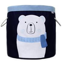 Cesto Organizador de Brinquedos Urso Polar - O Sapo e a Princesa -