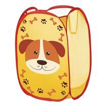 Cesto Organizador De Roupa Suja Cobertor Dobrável Infantil Cachorrinho - Art House