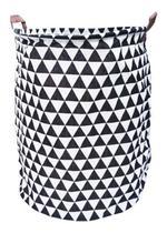 Cesto Organizador De Roupas Suja Dobrável 60 Litros C/ Alças - Novao