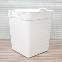 Cesto Organizador Multiuso Quadrado 34,8x33,5cm Branco - Sanremo -