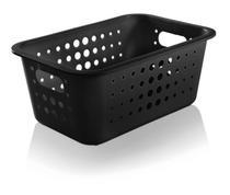 Cesto Organizador Plástico 5l Caixa Lavandeira Armário Roupas Closet - CO 430 Ou -