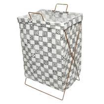 Cesto organizador roupa suja dobrável grande 35x60 armação - Amigold