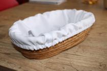 Cesto Oval -  para Fermentar Pães (22x12x7,5cm) com forro - Trighum - Cultura Do Pão