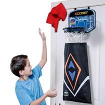 Cesto para roupa suja infantil e tabela de basquete aro de porta 2 em 1 organizador de roupas - Makeda