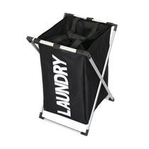Cesto para roupas suja para quarto lavanderia banheiro com laca desmontavel luxo preto - MAKEDA