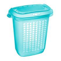 Cesto Plástico 46,4L Hydrus P/Roupas C/Tampa Verde Sanremo -