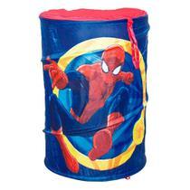 Cesto porta objetos portátil infantil homem aranha brinquedos zippy baú spider-man - Zippytoys
