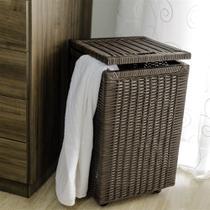 Cesto roupa suja roupeiro fibra sintetica junco argila 35x35x57 - Allstate