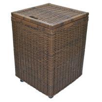 Cesto roupa suja roupeiro fibra sintetica junco argila 40x40x57 - Allstate
