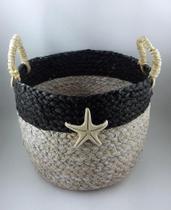 Cesto Seagrass c/ Estrela do Mar 31cm - Enjoy