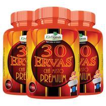 Chá 30 Ervas Premium - 3x 60 cápsulas - Katigua -