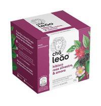 Chá Leão Hibisco com Rosa Silvestre e Amora 10 sachês -