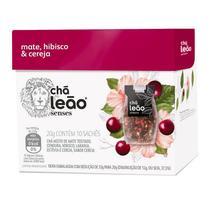 Chá Leão Senses Mate, Hibisco & Cereja Sachês - 10Ud -