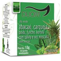Chá Misto Abacaxi, carqueja, boldo, funcho, hortela com salvia e noz moscada Duom 10 saches 13g -